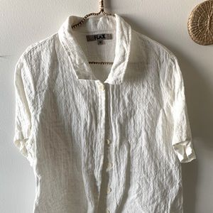 FLAX off white button up
